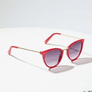 NWT Loft Metallic detail Red Sunglasses